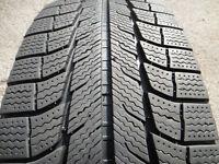1 used 235/60/17 Michelin Latitude X-Ice winter tire (80%)