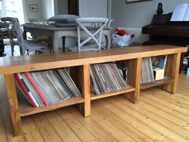 Solid teak sideboard/shelving unit