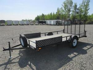 7' X 14' UTILITY TRAILER W/ REAR & SIDE LOAD