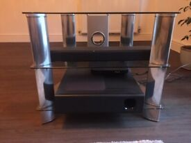 Glass/ Metal TV Stand