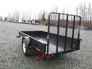 5' X 10' UTILITY TRAILER WITH SOLID SIDES Prince George British Columbia image 2