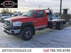 2010 Dodge Ram 4500 SLT 6 SPEED MANUAL FLAT DECK 5TH WHEEL DSL