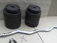 61 lb 28 kg Dumbbell & Barbell Weights - Heathrow
