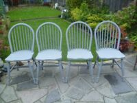 4 x Shabby Chic Chairs up-cycled in 'Mid Grey' chalk paint