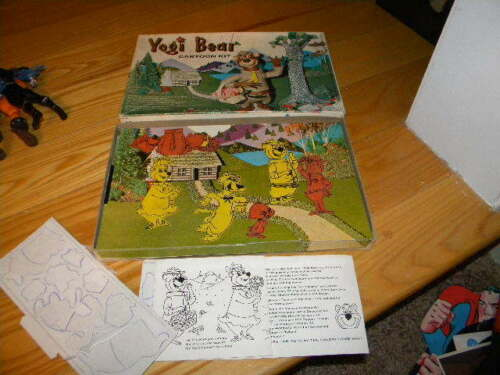 Yogi Bear Hanna Barbera 1962 Used Color Forms Cartoon Playset