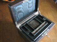 Antique Leather Jewellery Box