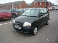 2008 (08) Hyundai Amica Atlantic 1086cc 5-door hatch in black, Ideal 1st car, cheap tax & Insurance