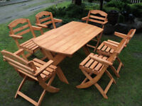 Wooden Garden furniture set Table and 6 chairs