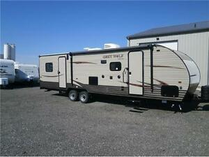 2017 FOREST RIVER GREY WOLF 27 RR TOY HAULER W/SLIDE! $27495!! London Ontario image 9
