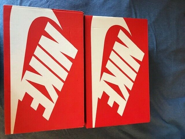 2 Nike EMPTY Replacement Shoe Sneaker Box Red White