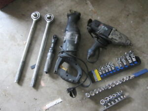 Impact Wrench Reciprocating Saw 3/8 Air Ratchet 3/4 Large Socket
