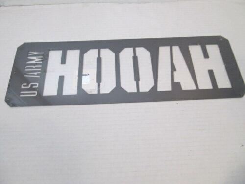 Open Road Brands US Army HOOAH Metal Sign