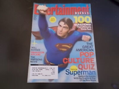 Brandon Routh  Will   Grace  Tori Spelling   Entertainment Weekly Magazine 2006