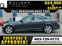 2011 Mercedes C300 4Matic $199 bi-weekly APPLY NOW DRIVE NOW