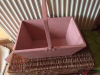 Victorian pine pink painted box