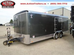 ENCLOSED 8.5X20 CAR HAULER - TORSION AXLES - SCREWLESS!