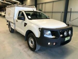 2014 Ford Ranger PX XL White Manual CAB CHASSIS SINGLE CAB Dubbo Dubbo Area Preview