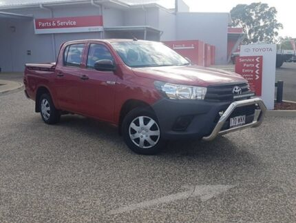 2016 Toyota Hilux TGN121R Workmate Olympia Red 6 Speed Automatic Dual Cab Utility Warwick Southern Downs Preview