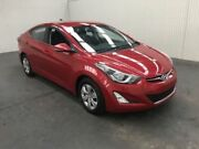 2014 Hyundai Elantra MD Series 2 (MD3) Active Brilliant Red 6 Speed Automatic Sedan Moonah Glenorchy Area Preview