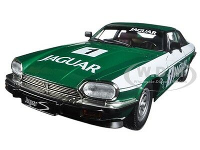 1975 JAGUAR XJS COUPE RACING GREEN #1 1/18 MODEL CAR BY ROAD SIGNATURE 92658