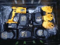 Heavy Duty Dewalt Metal Cutter With A Lot of Chargers and Nine Batteries - Was £1200 Now Only £150
