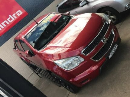 2012 Holden Colorado RG MY13 LX Crew Cab Burgundy 5 Speed Manual Utility