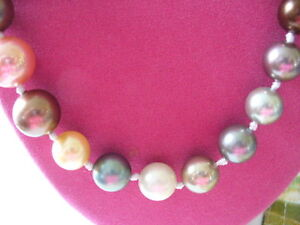 """Beautiful Shell Pearl Necklace, 20 """""""