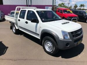 2011 Isuzu D-MAX TF MY10 SX (4x4) White 5 Speed Manual Crew Cab Chassis Dubbo Dubbo Area Preview