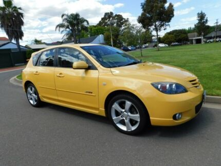2004 Mazda 3 BK1031 SP23 Yellow 5 Speed Manual Hatchback Somerton Park Holdfast Bay Preview