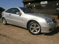 07 MERCEDES-BENZ C180 KOMPRESSOR 1.8 SE COUPE 48K FSH RECENT SERVICE/MOT SUPERB