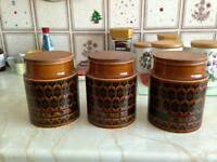Collectable Hornsea pottery tea cannisters