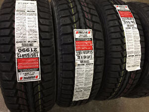 195/65R15 UNIROYAL TIGER PAW Winter Tires (Studdable)
