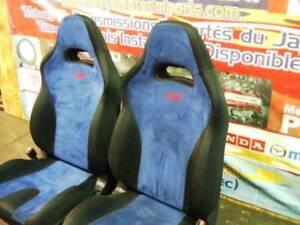 JDM SUBARU WRX STI FRONT SEATS VERSION 7 AND 8 BLUE SEATS 2001+