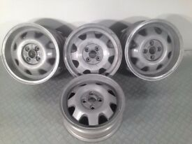 "ATS CUP 4X100, 15"" staggered set two 5.5J and two 6J. Deep dish alloy wheels tm"
