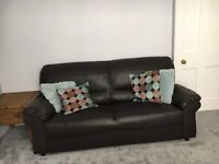Job lot of living room furniture inc. sofas, tv corner unit, 2 x lamp tables and coffee table
