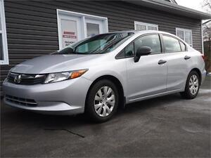 2012 Honda Civic Sdn DX, 5 SPEED,