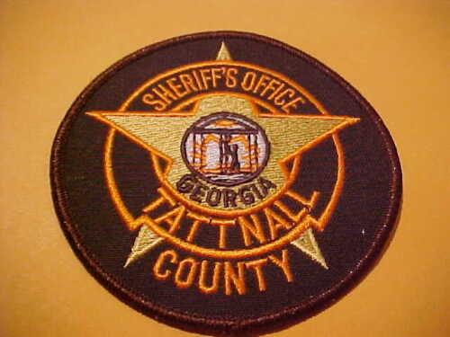 TATTNALL COUNTY GEORGIA POLICE PATCH SHOULDER SIZE NEW 4 X 4 INCH
