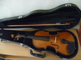 StentorII full size violin with csae, bow etc- excellent condition