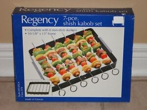 Brand new in box Regency 7 piece metal Kabob BBQ set