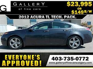 2012 Acura TL TECH PKG AWD $149 bi-weekly APPLY NOW DRIVE NOW