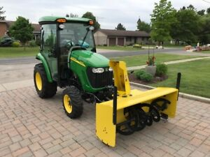 John Deere 3320 with blower and mower deck