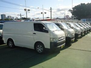 2005 Toyota Hiace TRH201R LWB White 5 Speed Manual Van Canada Bay Canada Bay Area Preview