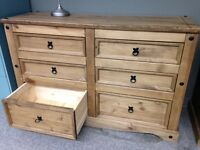 LIQUIDATION FINALE! Commode double 6 tiroirs en Pin massif