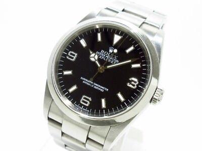 Auth ROLEX Explorer 1 114270 Black Y253627 Men's Wrist Watch