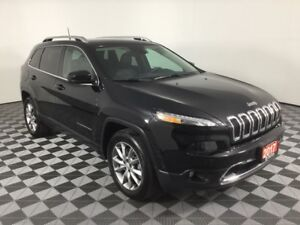 2017 Jeep Cherokee LIMITED w/PANO ROOF, HEATED AND COOLED LEATHE