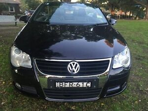 2008 Volkswagen EOS 1F 147TSI Convertible 2dr DSG 6sp 2.0T Black Sports Automatic Convertible Croydon Burwood Area Preview
