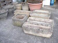 Cotswold stone garden planters , Various sizes,