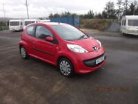 2006 PEUGEOT 107 ONE LITRE PETROL FOR SALE WITH ONLY 24K MILES MOT JUNE 2018