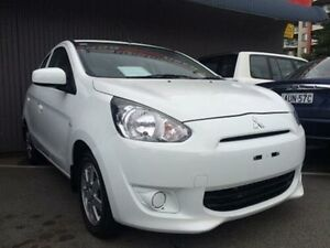 2013 Mitsubishi Mirage LA ES White Continuous Variable Hatchback Braddon North Canberra Preview