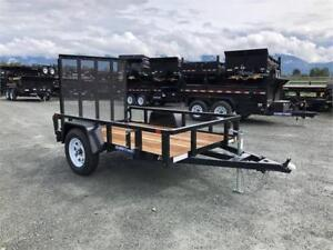 NEW 5x8' TUBE TOP UTILITY ATV TRAILER 2990lb gvw